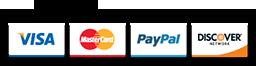 Visa, MC, Discover, PayPal